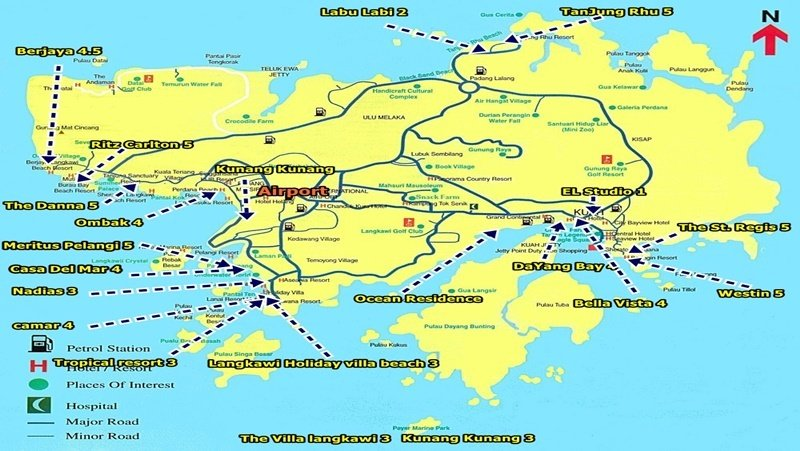 랑카위 리조트 지도