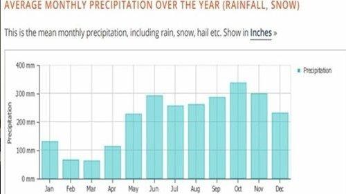 코타키나발루 날씨 강수량