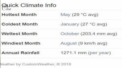 코타키나발루 날씨 특징