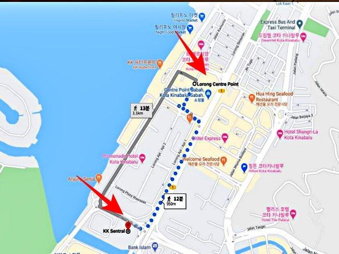 코타키나발루 버스터미널 위치