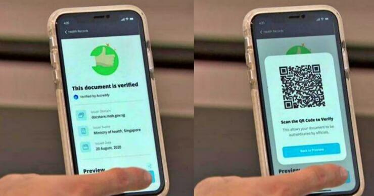 싱가포르-백신-여권-앱